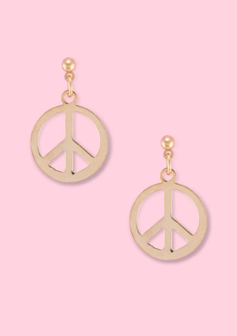 Vintage-Bepeace-drop-earrings-gold