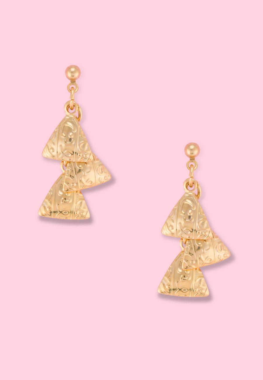 Vintage-Cleori-drop-earrings-gold