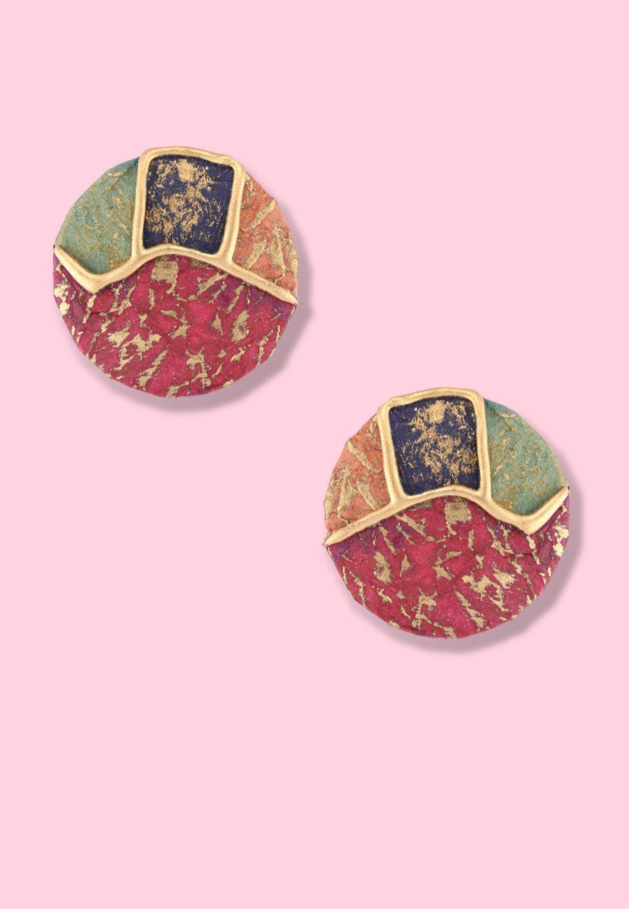 Eighties-vintage-earrings-Creali-studs