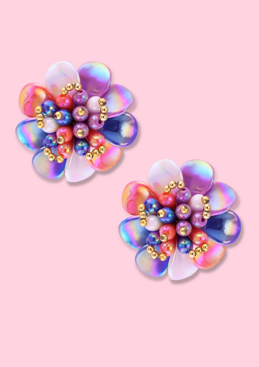 Vintage-Daisy-clip-on-studs