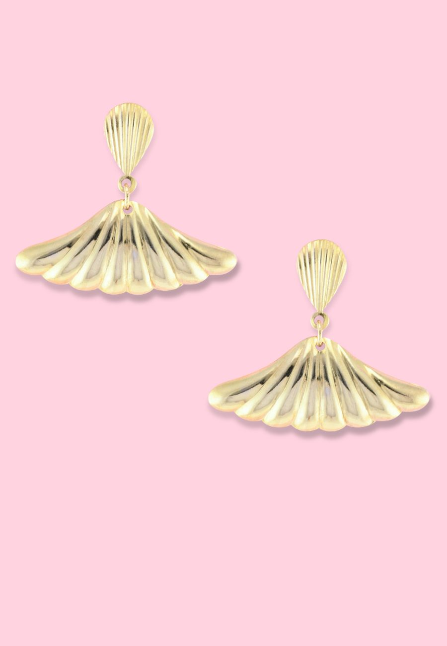 Vintage-Gemini-drop-earrings-gold