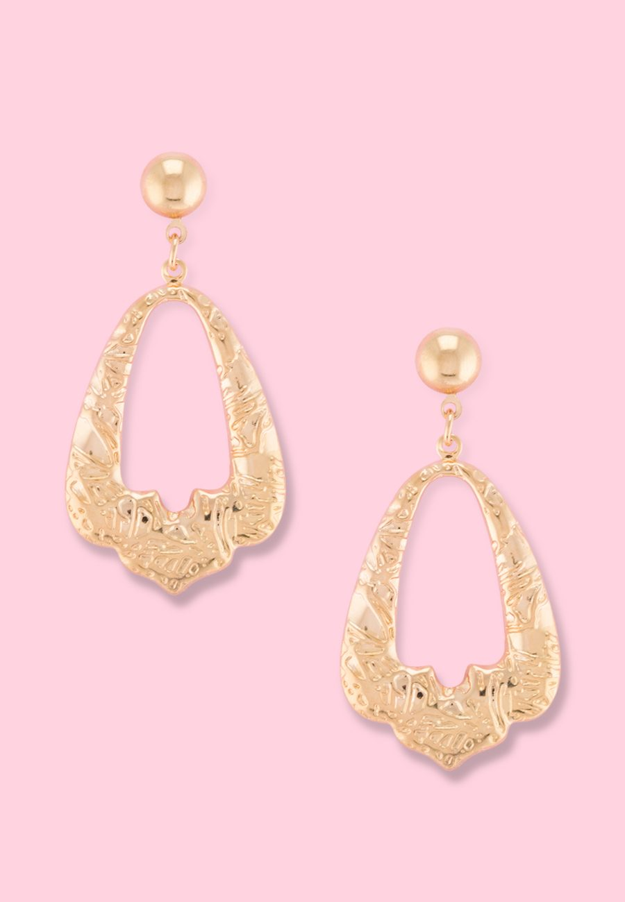 Vintage-Geograce-drop-earrings-gold