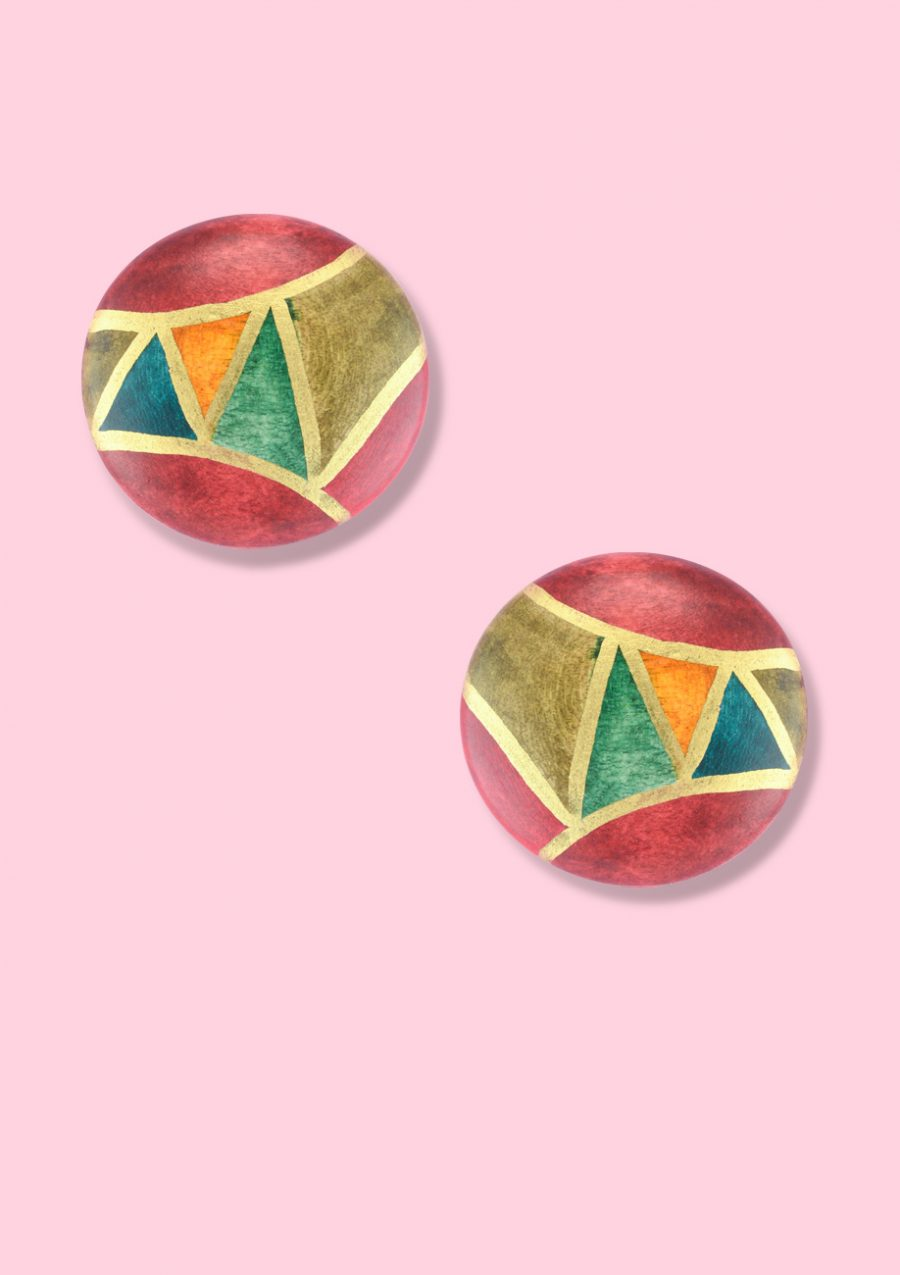 Eighties-vintage-wooden-Giza-studs