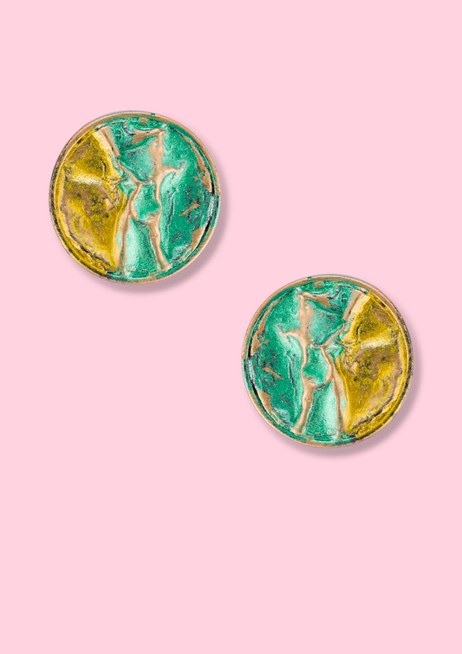 Vintage-abstract-Goldco-studs