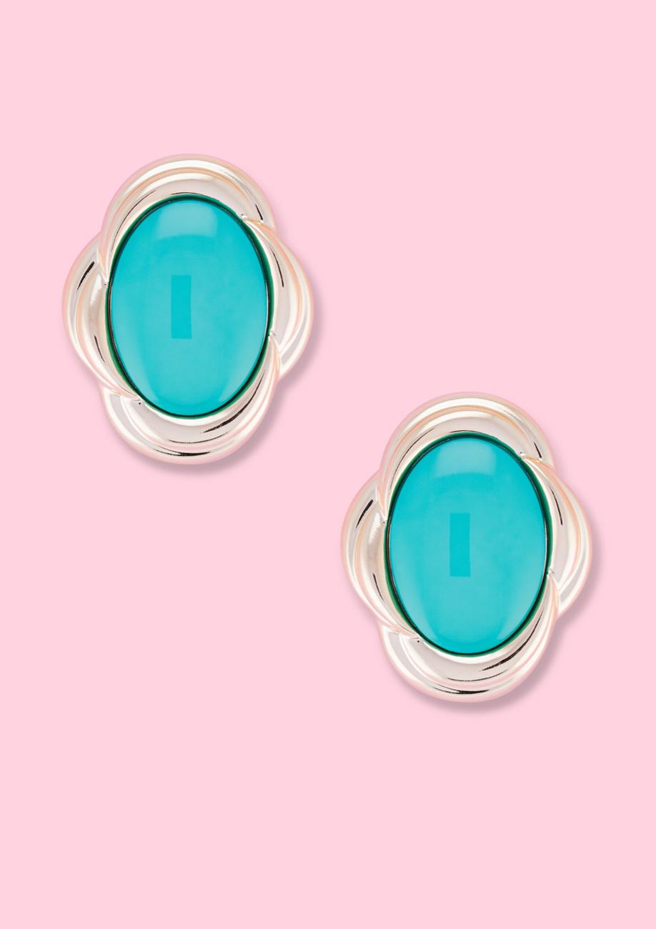 Vintage-Silvois-eighties-stud-earrings