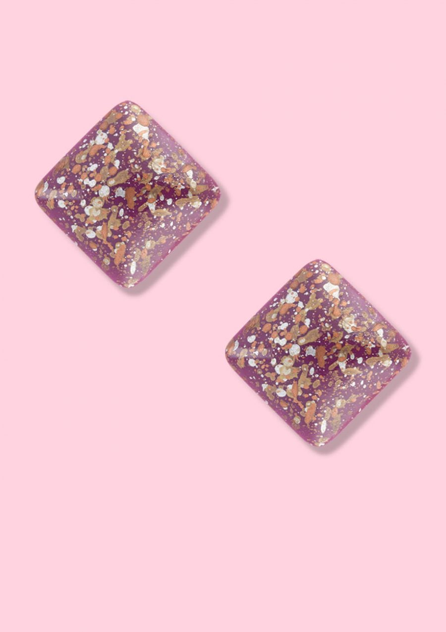 Vintage-Speckle-stud-earrings-square
