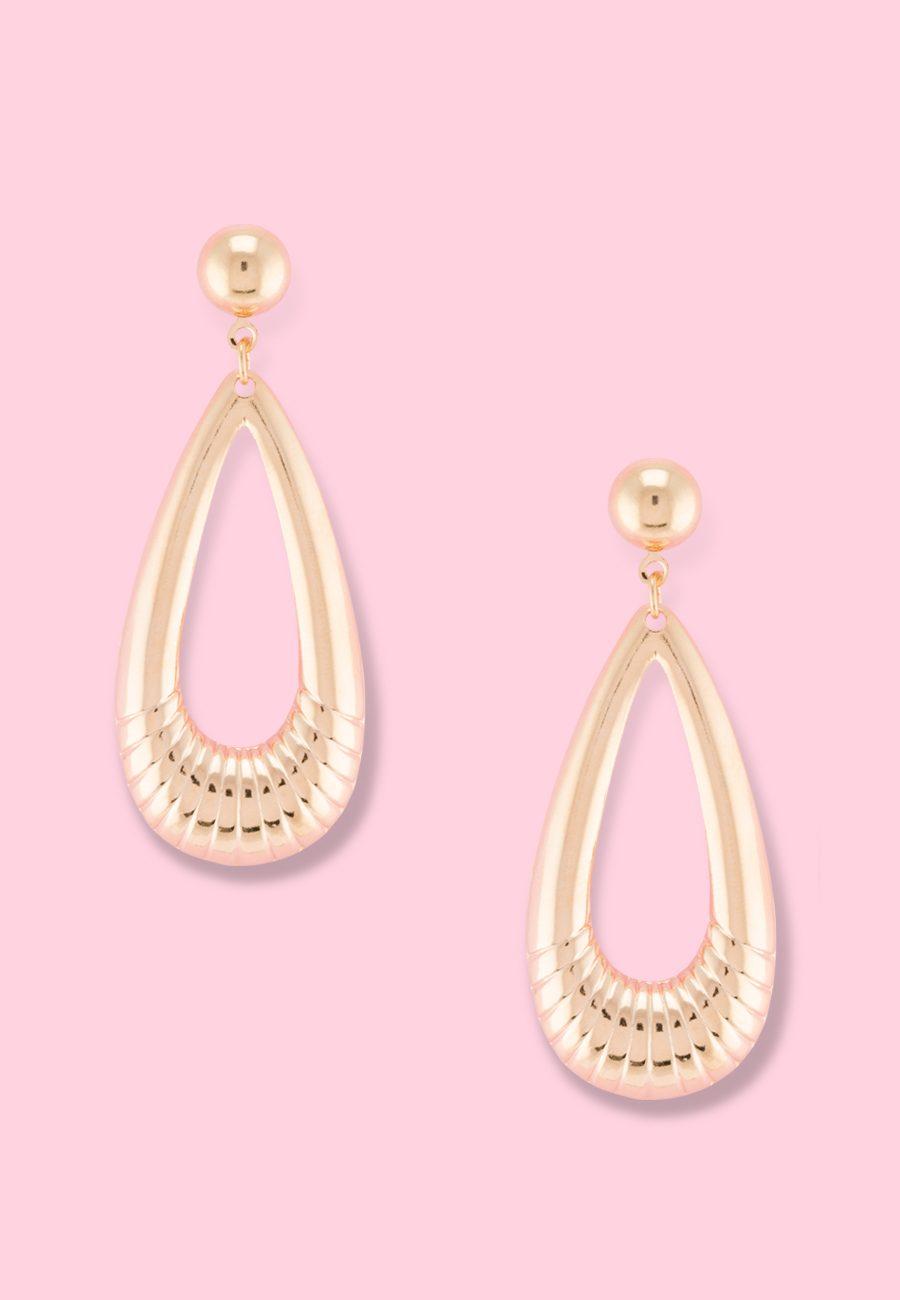Vintage-Taara-drop-earrings-gold