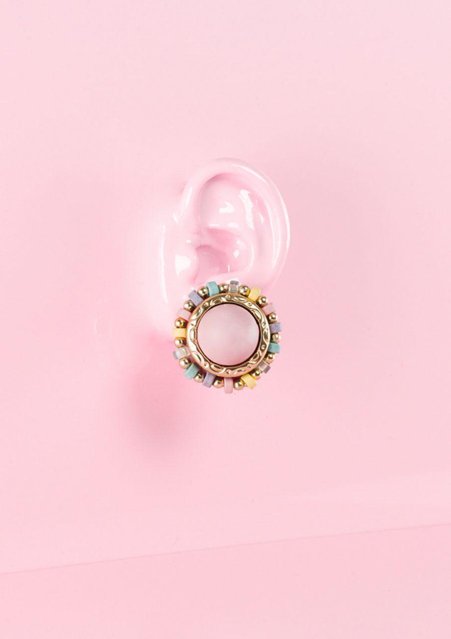 Pastel stud earrings