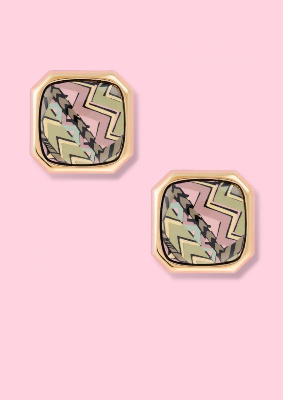 Seventies-vintage-Abbel-stud-clip-on-earrings
