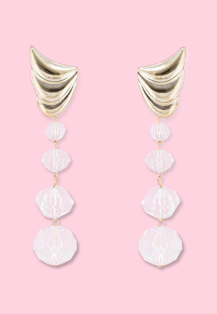 Large statement drop earrings, by live-to-express. Shop vintage statement earrings at live-to-express.