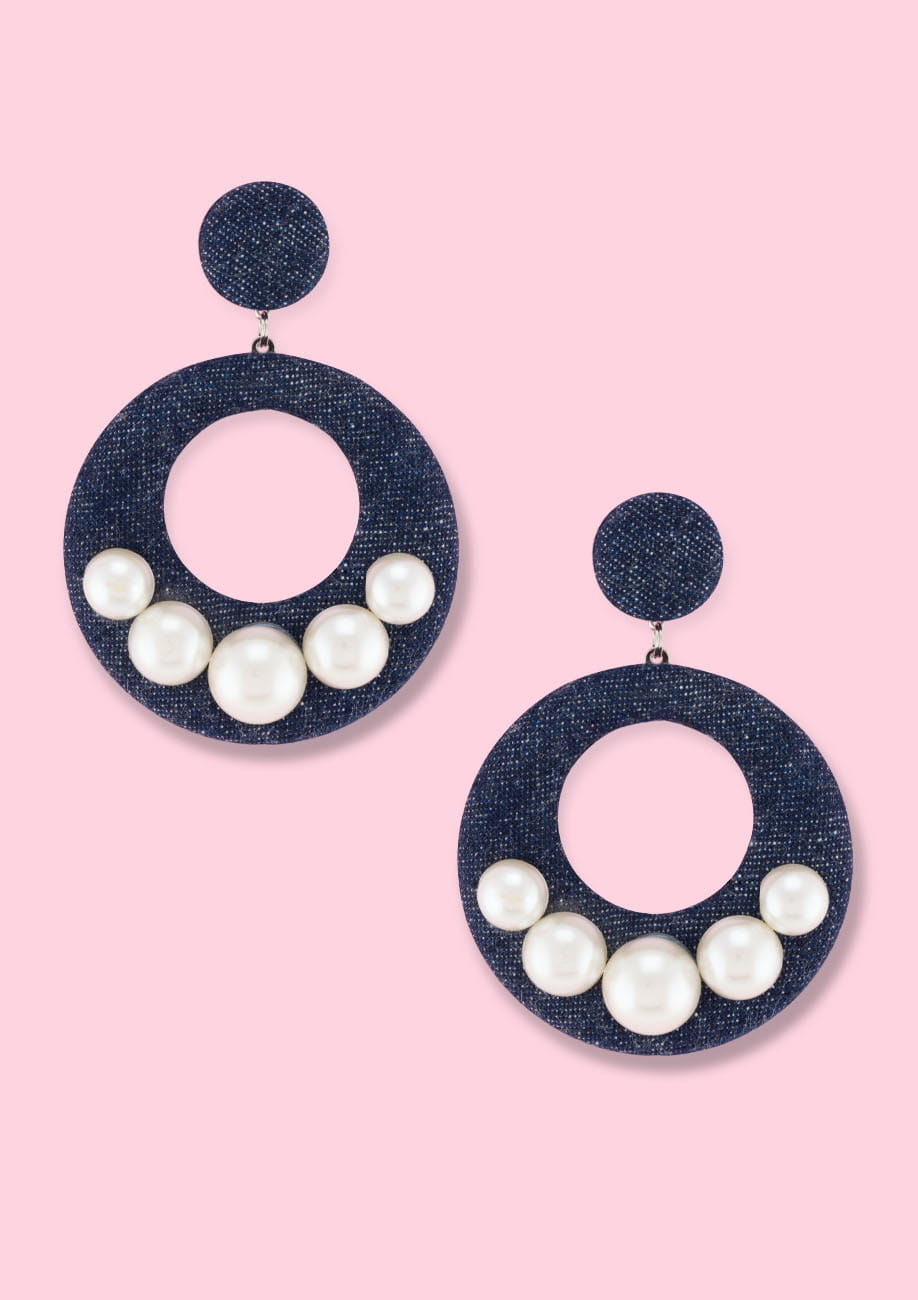 Statement drop earrings by live-to-express. Shop vintage earrings online.