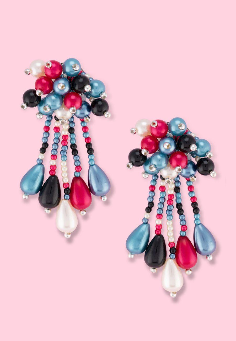 Vintage-Firebe-stud-earrings
