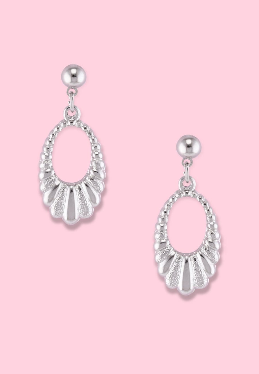 Silver classic vintage earrings by live-to-express. Shop 90's vintage ear jewellery online.