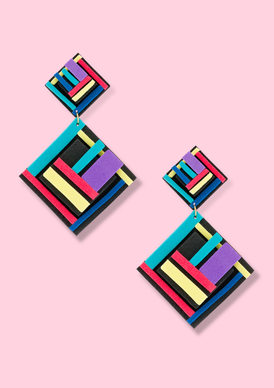 80s Vintage statement earrings by live-to-express. Online statement earrings shop