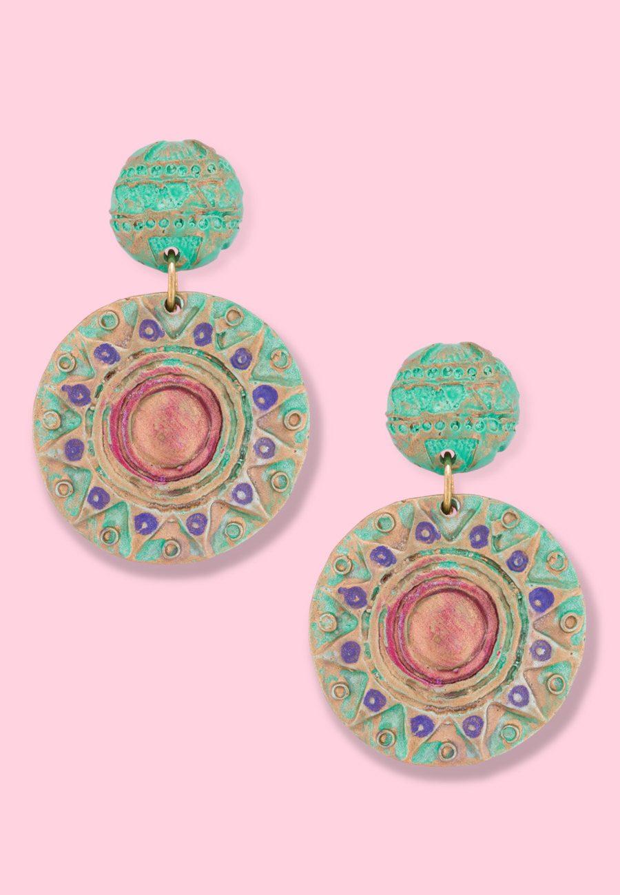 Vintage-80's-earrings-LTE-Myssun-drop-earrings