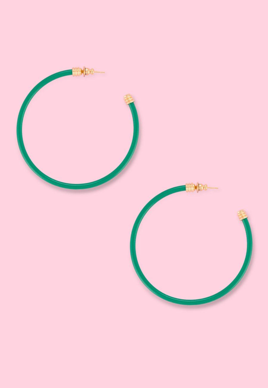 Large classic vintage hoop earrings by live-to-express. Shop sustainable vintage earrings online