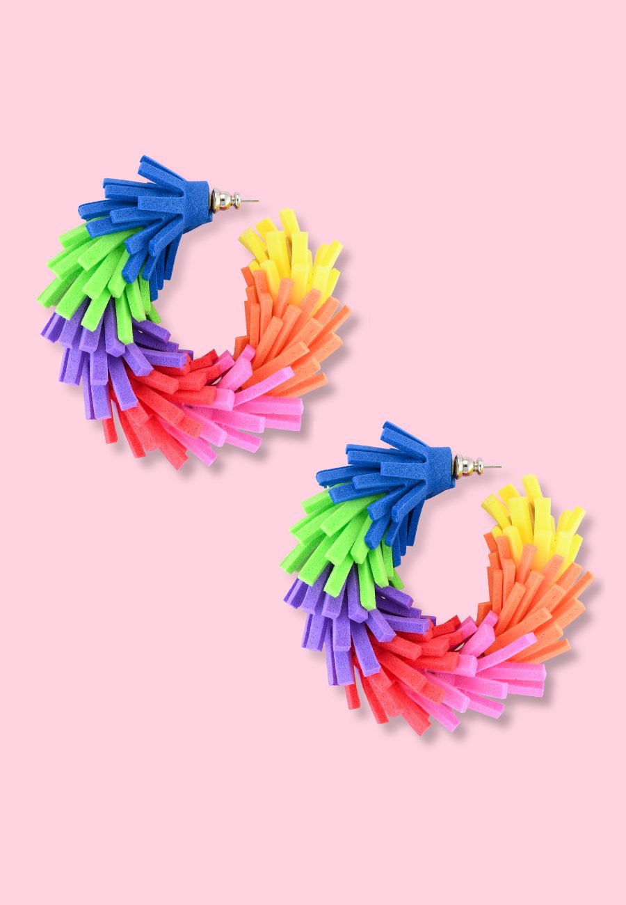 Eighties-vintage-Rainbow-hoops