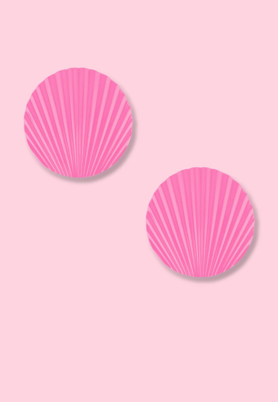 Pink vintage clip-on earrings, by live-to-express. Shop vintage earrings online.