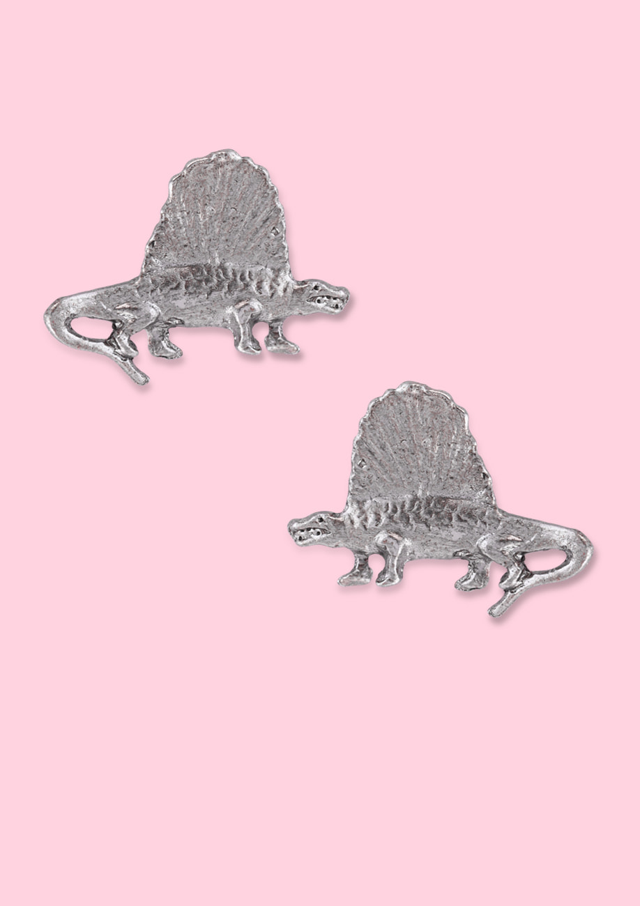 Dinosaur stud earrings with push-back closing. Vintage 90s earrings by live-to-express.