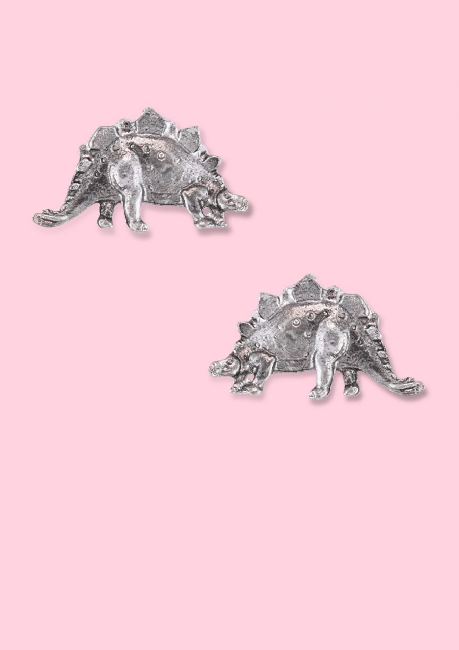90s Dinosaur stud earrings with push-back closing. Vintage 90s earrings by live-to-express.