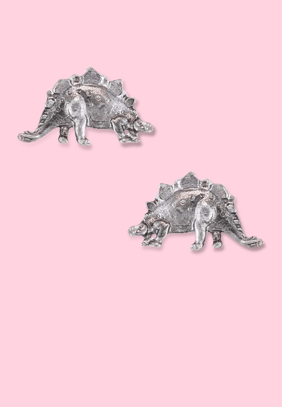 Vintage-dinosaurs-earrings-Stegos-studs