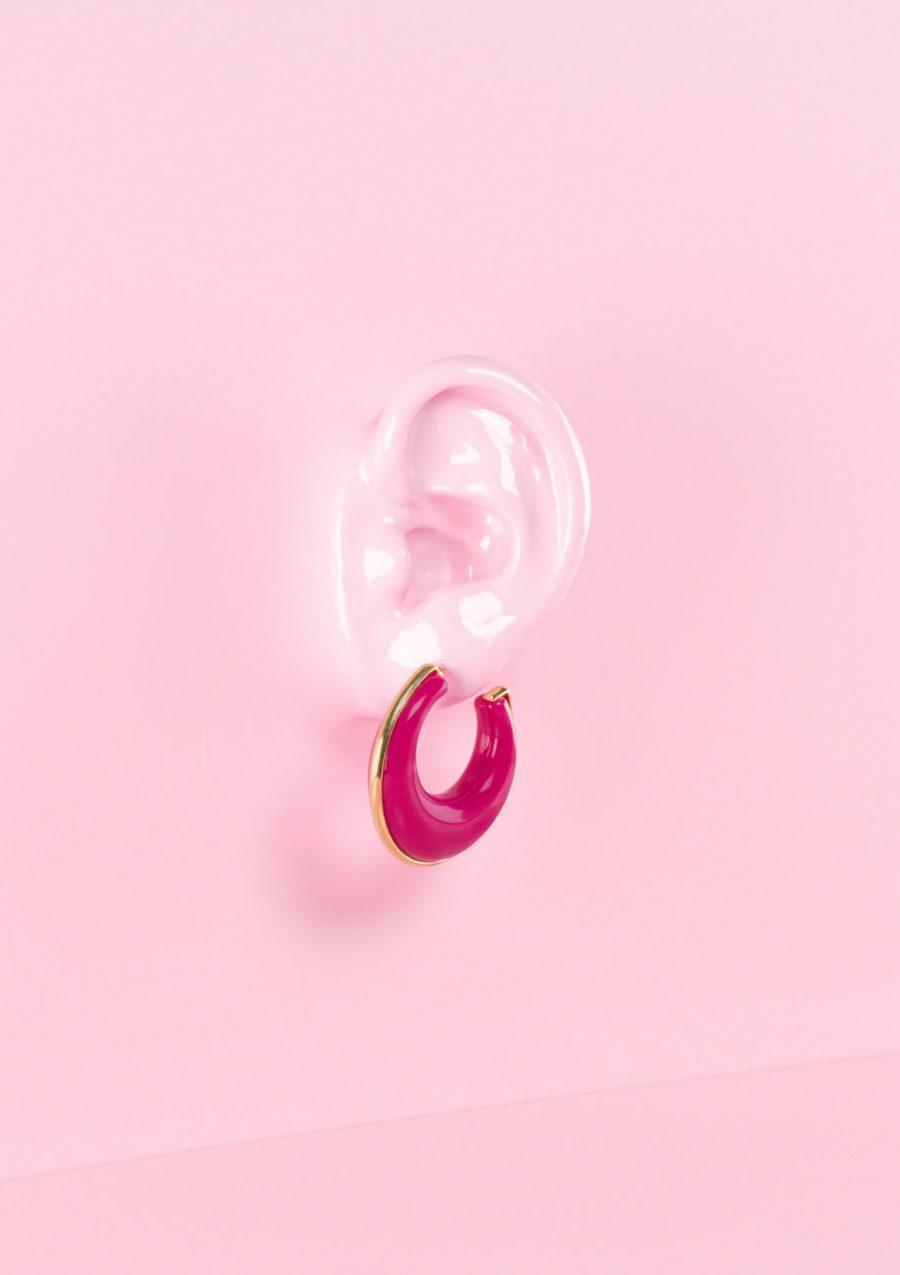 Bold hoop earrings